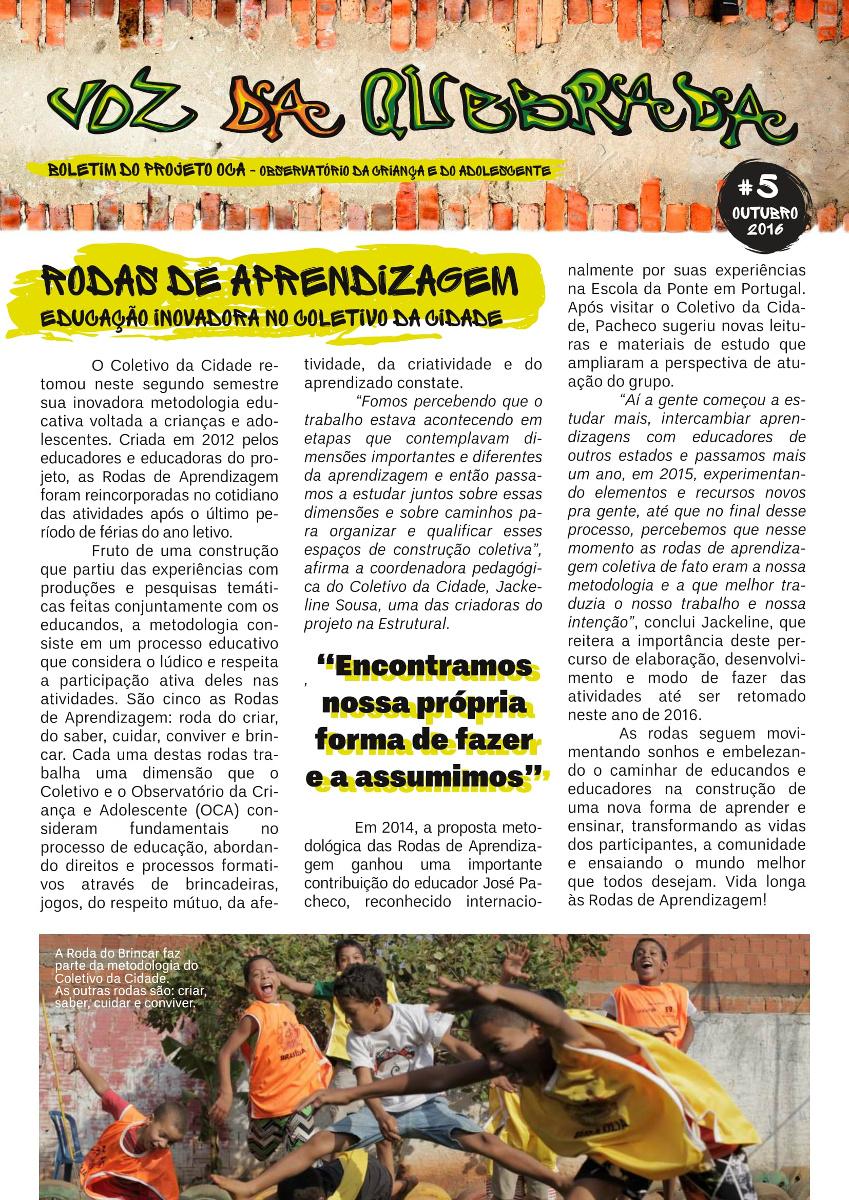 Boletim Voz da Quebrada com cara nova – 5ª edição