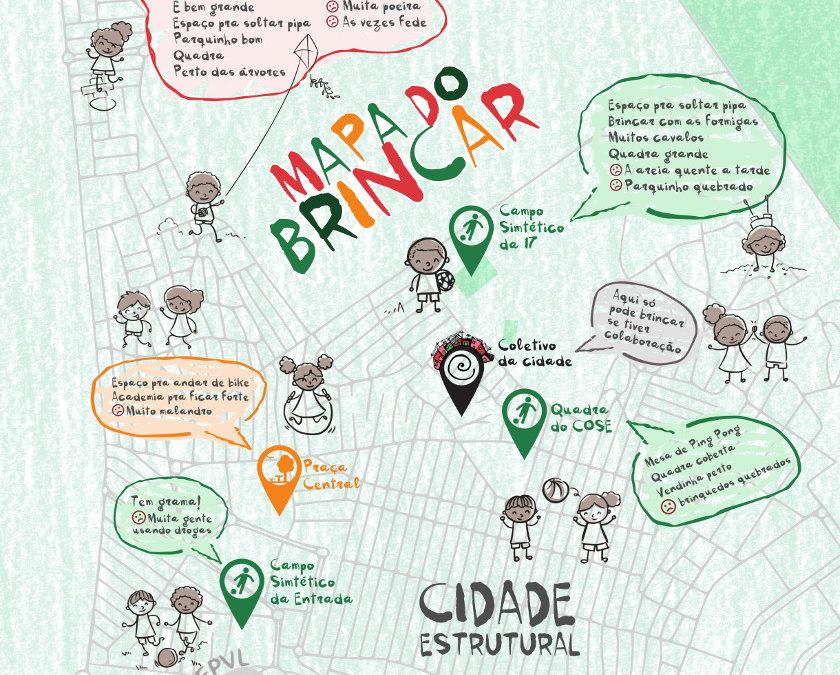 """OCA e Coletivo da Cidade lançam """"Mapa do Brincar"""" da Estrutural"""